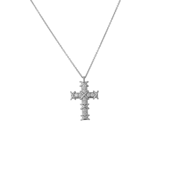 Tiffany & Co. Schlumberger Ten Stone Cross Pendant Necklace Necklaces Tiffany & Co.