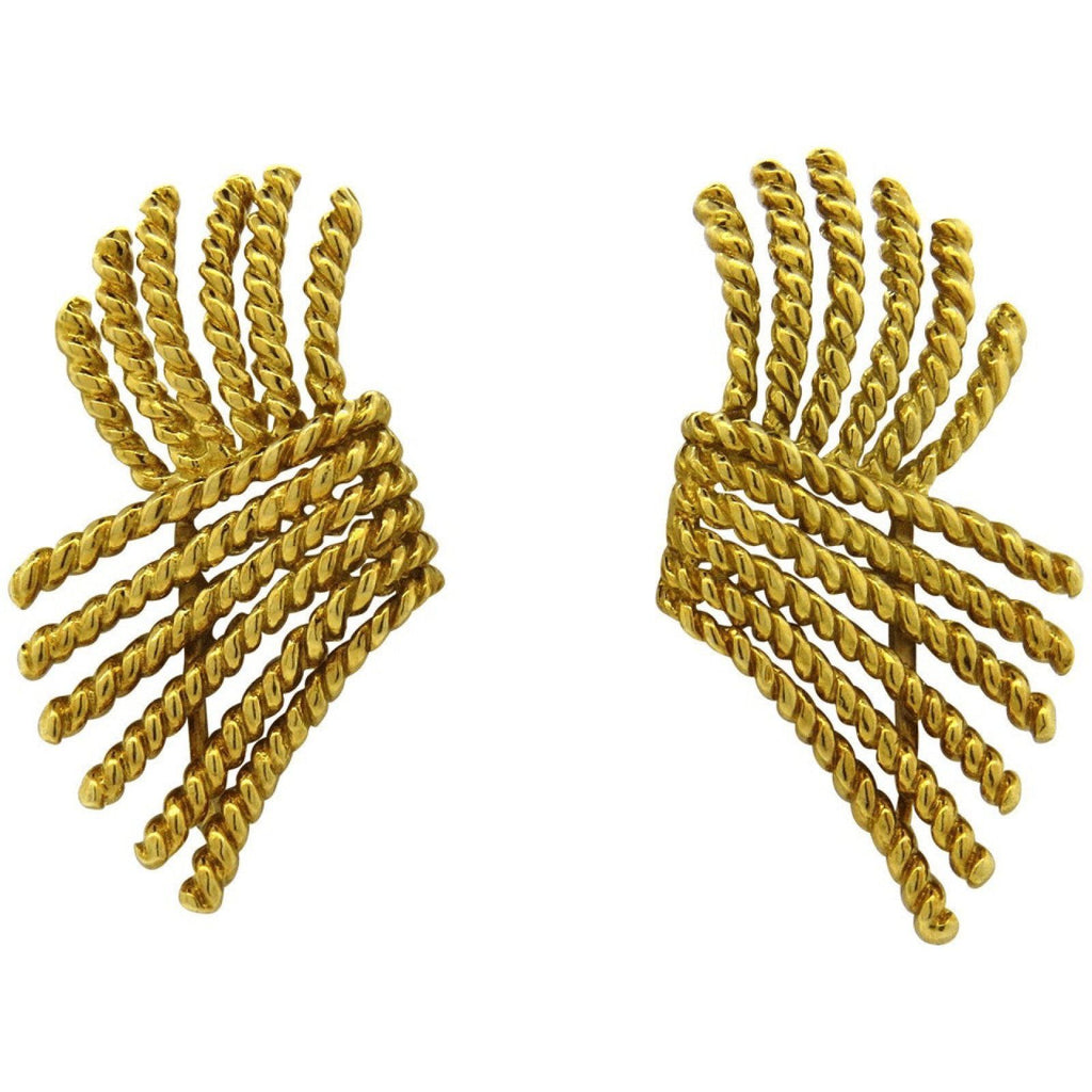 Tiffany & Co. Schlumberger V Rope Earrings Earrings Tiffany & Co.