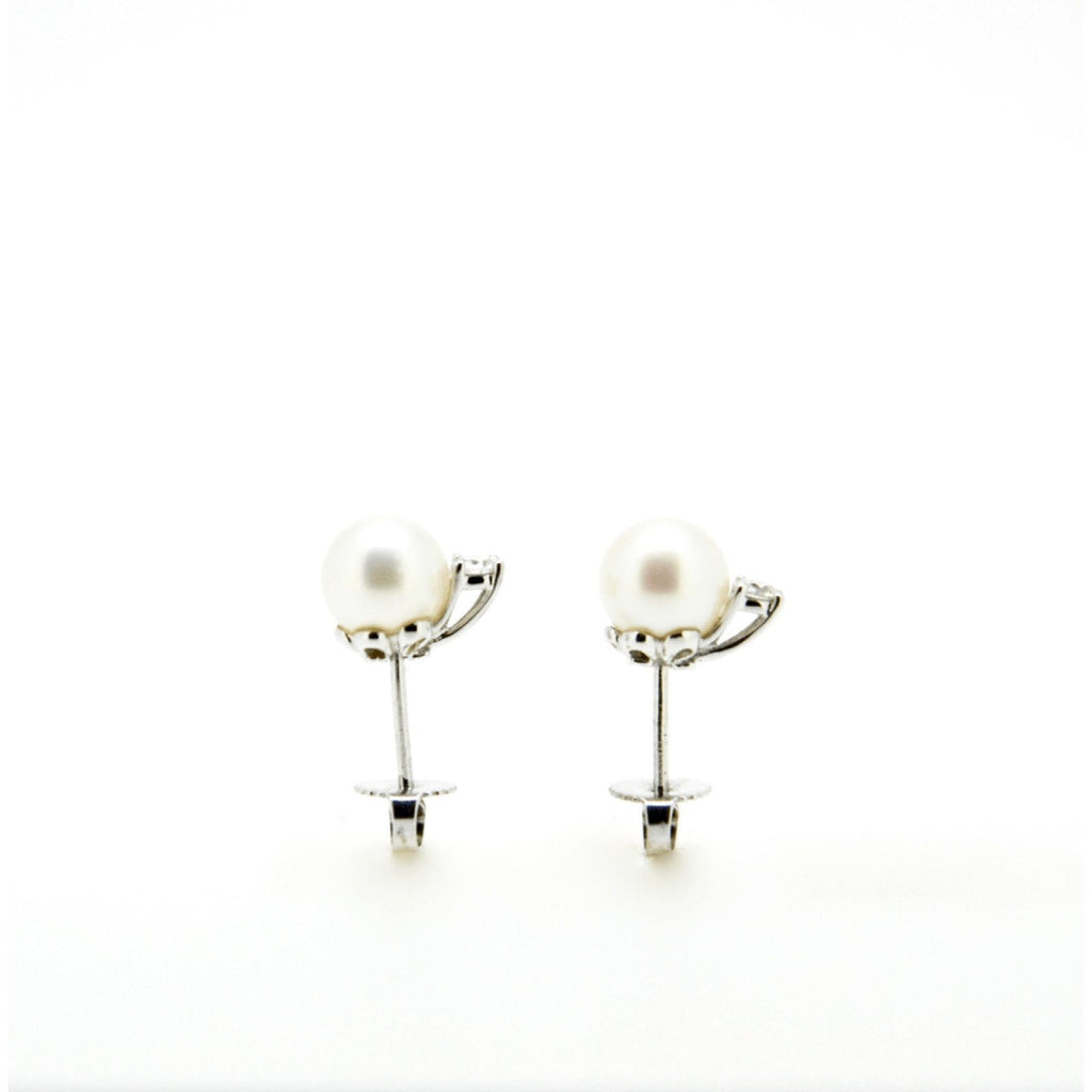 Tiffany & Co. Signature Pearl and Diamond Earrings Earrings Tiffany & Co.