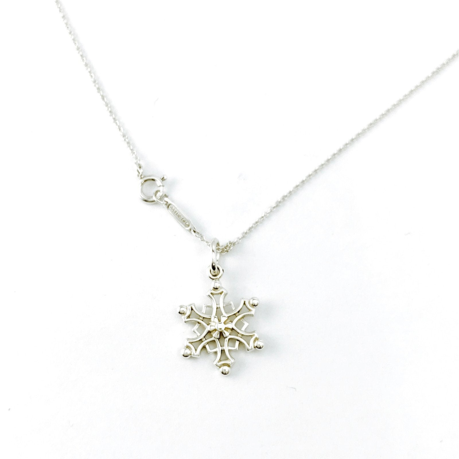 4131ff459 Tiffany & Co. Snowflake Charm Pendant Necklace– Oliver Jewellery