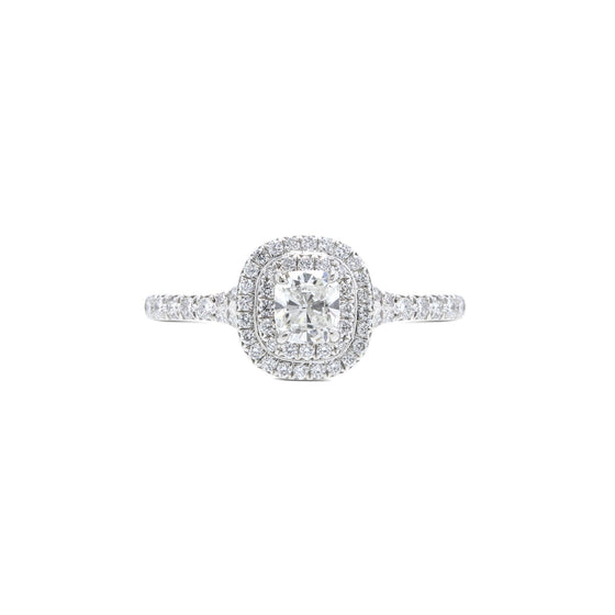 Tiffany & Co. Soleste Double Halo Diamond Engagement Ring Rings Tiffany & Co.