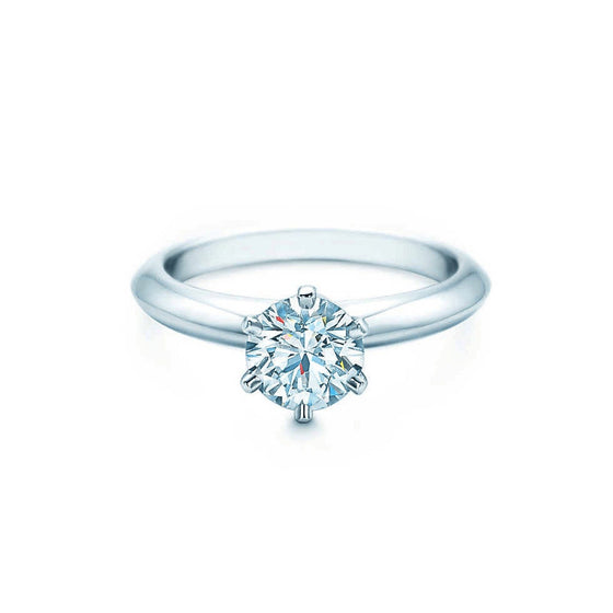 Tiffany & Co. Solitaire 0.33Ct Round Diamond Engagement Ring - Rings