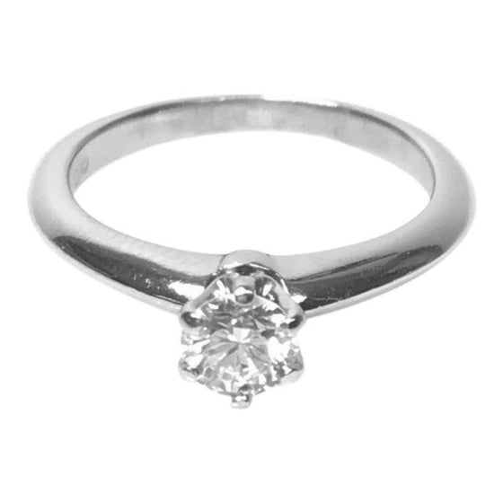 Tiffany & Co. Solitaire 0.32ct Round Diamond Engagement Ring Rings Tiffany & Co.