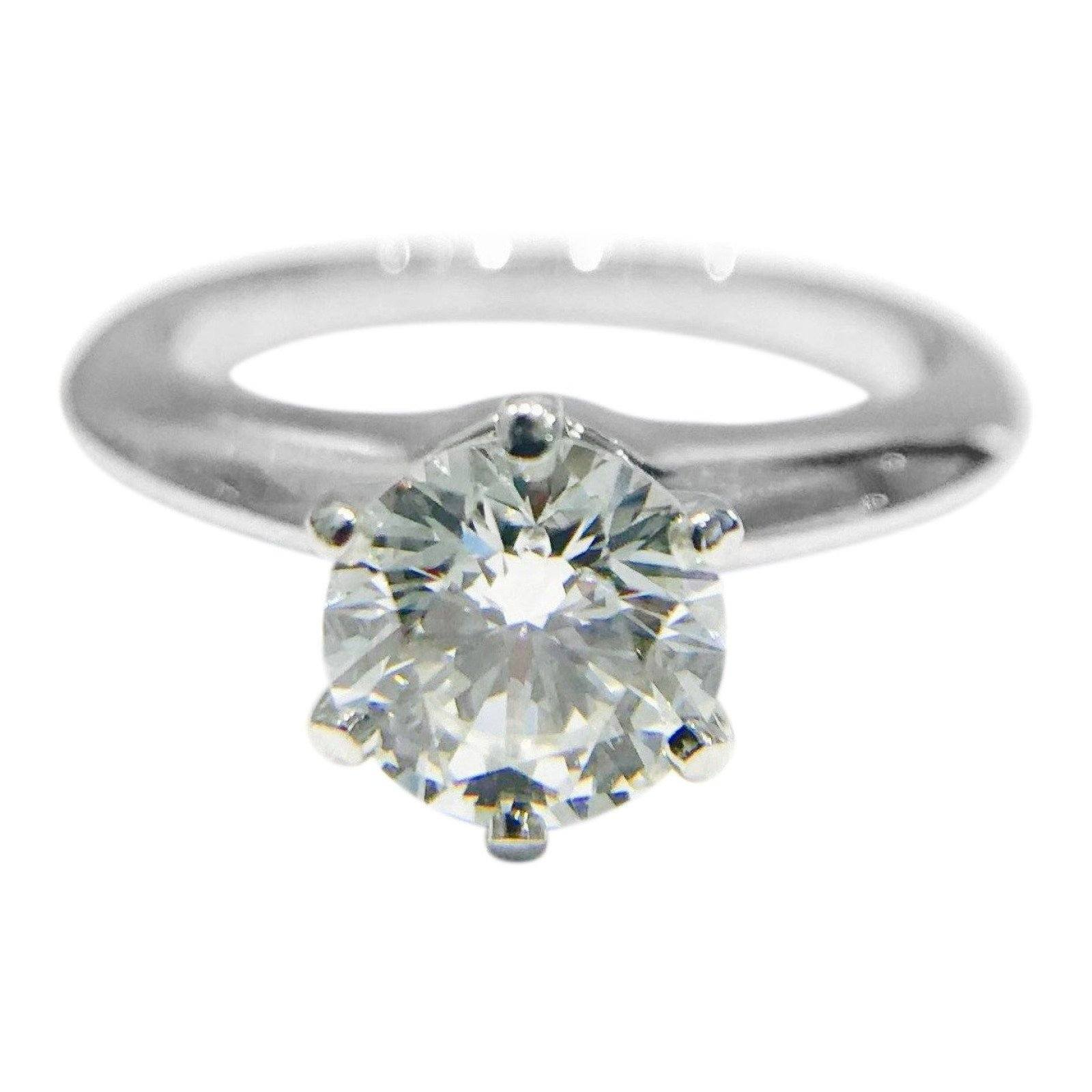 Tiffany Wedding Rings.Tiffany Co Solitaire 0 89ct Round Diamond Engagement Ring