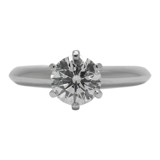 Tiffany & Co. Solitaire 0.91ct Round Diamond Engagement Ring Rings Tiffany & Co.