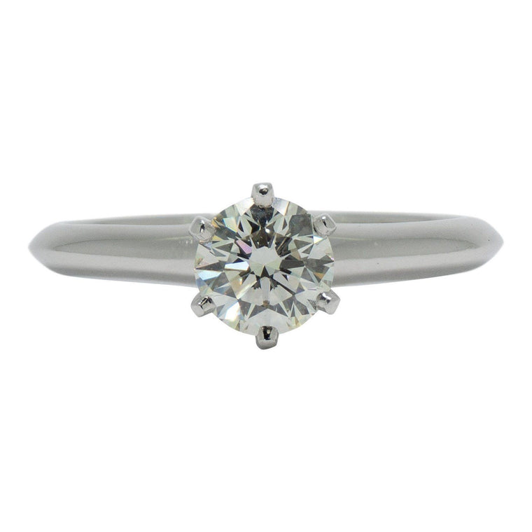 Tiffany & Co. Solitaire 0.92ct Round Diamond Engagement Ring Rings Tiffany & Co.