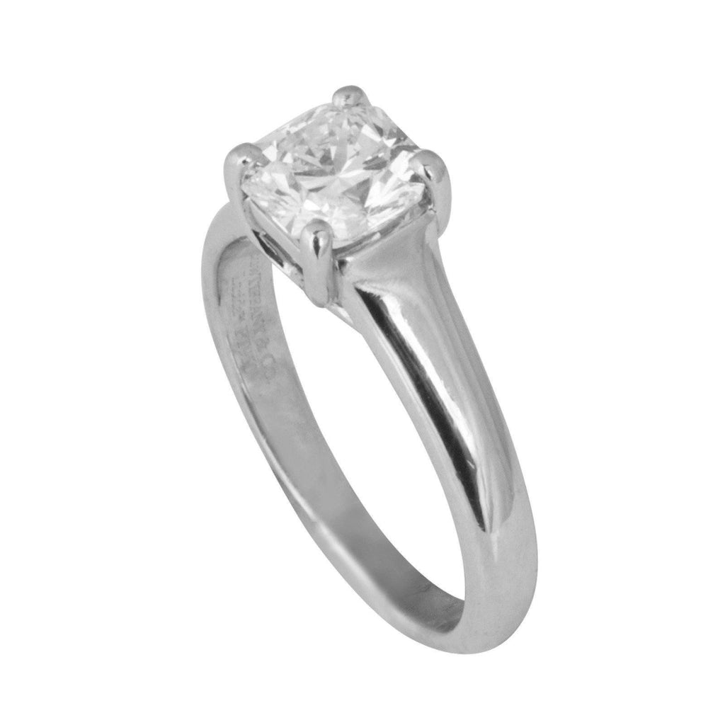 Tiffany & Co. Solitaire 1.00ct Lucida Cut Diamond Engagement Ring Rings Tiffany & Co.