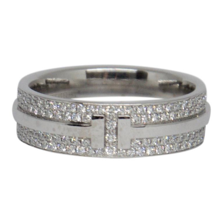 4034b0560 Tiffany & Co. T Two Ring with Pave Diamonds– Oliver Jewellery