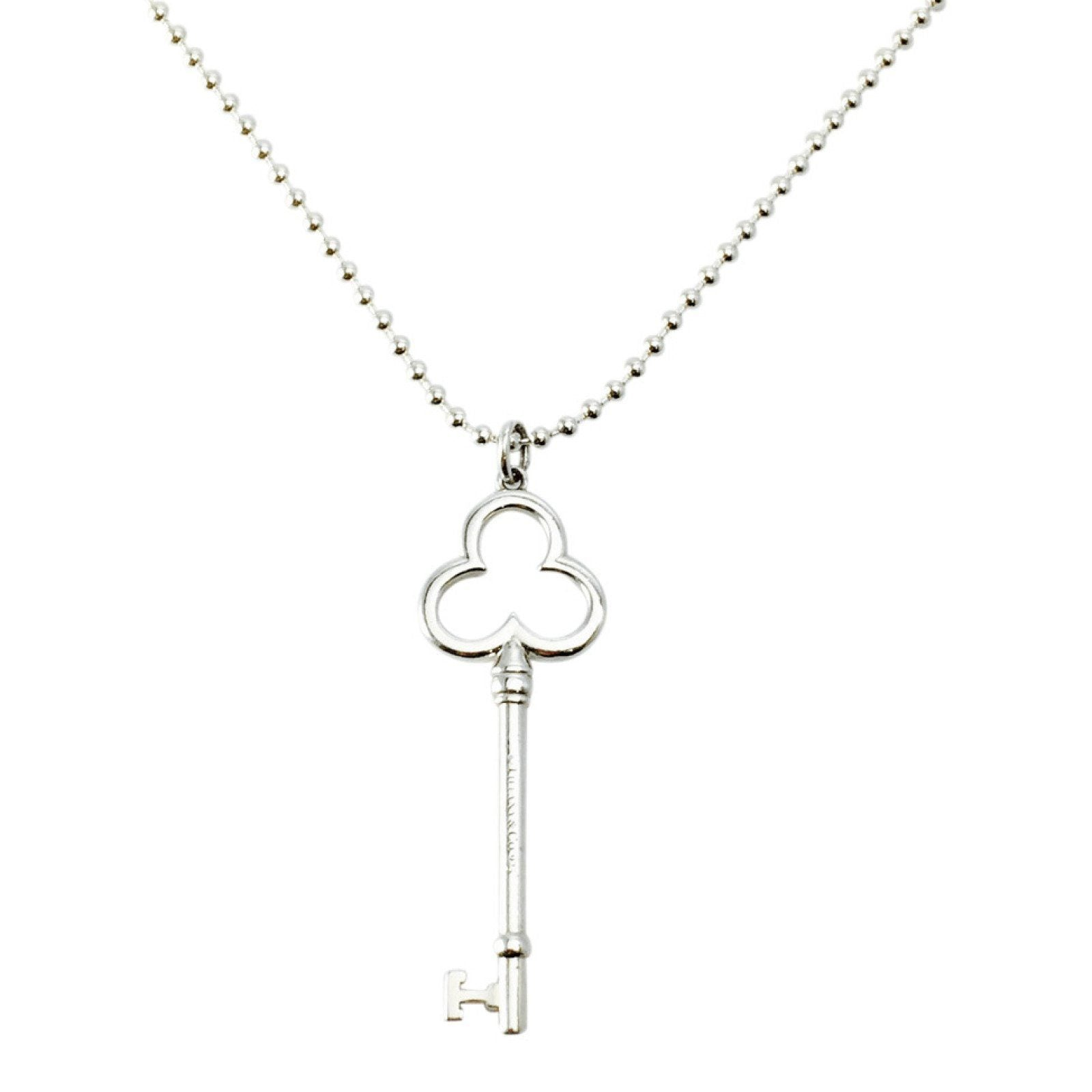 3accb93cb Tiffany & Co. Trefoil Key Pendant Necklace– Oliver Jewellery