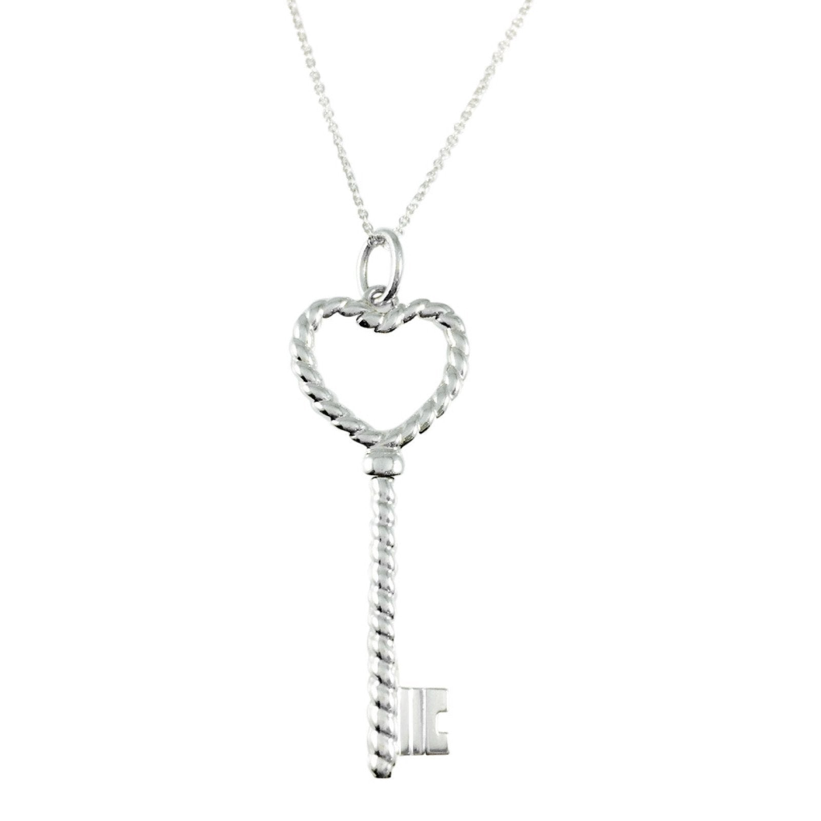 Tiffany co twist heart key pendant necklace oliver jewellery tiffany co twist heart key pendant necklace necklaces aloadofball Image collections