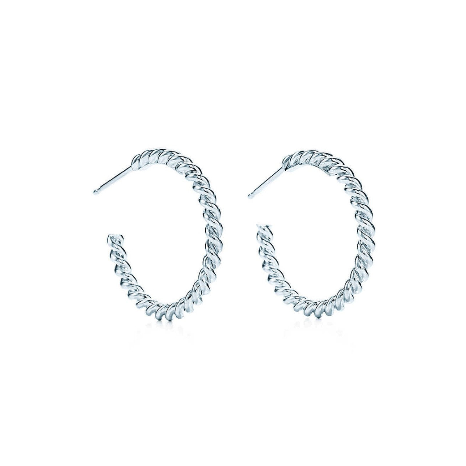 3a81ece0b Tiffany & Co. Twist Hoop Earrings– Oliver Jewellery
