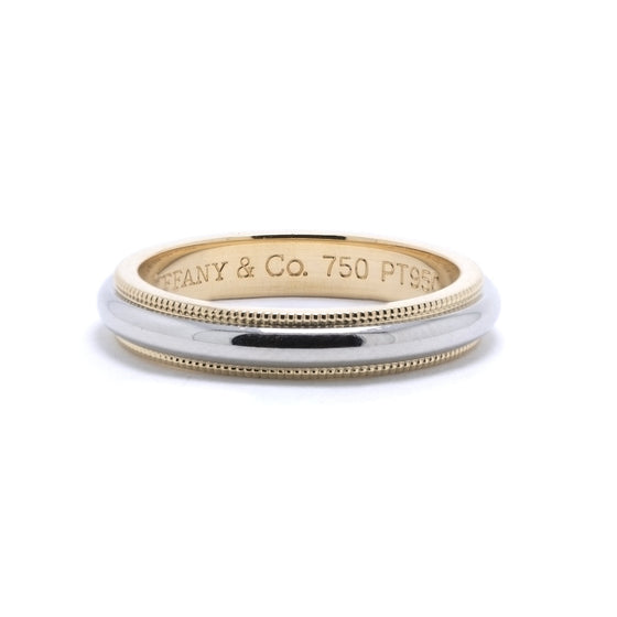 Tiffany & Co. Two-Tone Classic Milgrain Wedding Band Ring Rings Tiffany & Co.