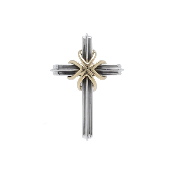 Tiffany & Co. Two-Tone Cross Pendant Charms & Pendants Tiffany & Co.