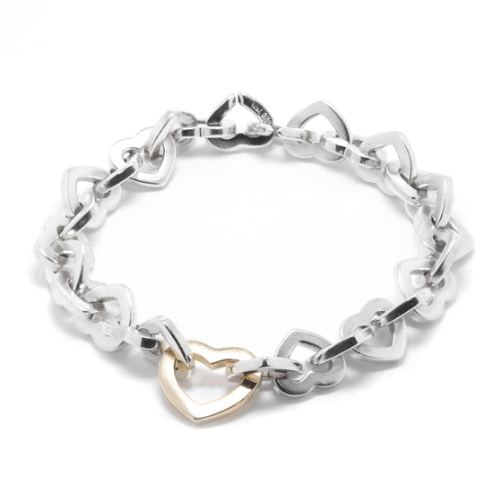Tiffany & Co. Two-Tone Heart Link Bracelet Necklaces Tiffany & Co.
