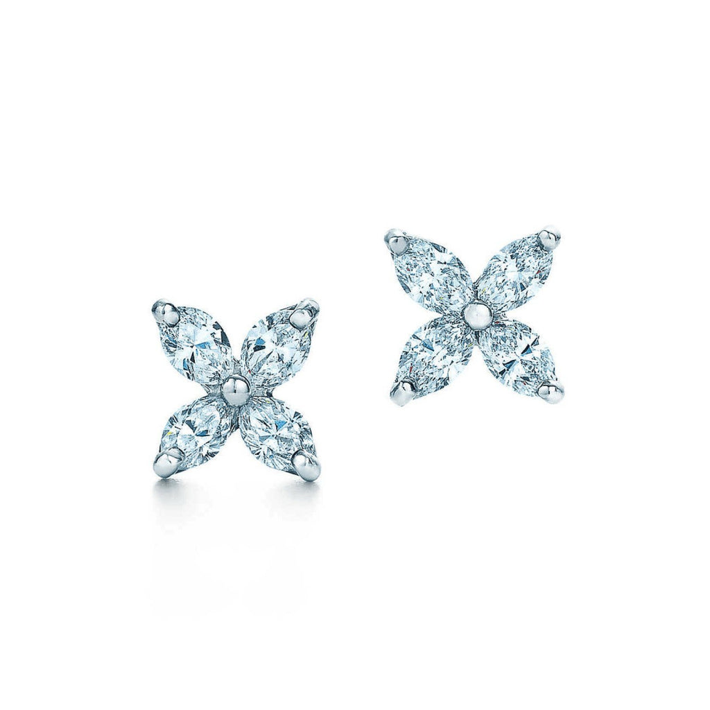 Tiffany & Co. Victoria Collection Diamond Earrings - Earrings