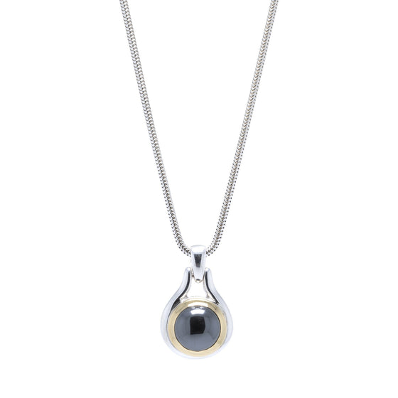 Tiffany & Co. Vintage Two-Tone Hematite Pendant Necklace Necklaces Tiffany & Co.