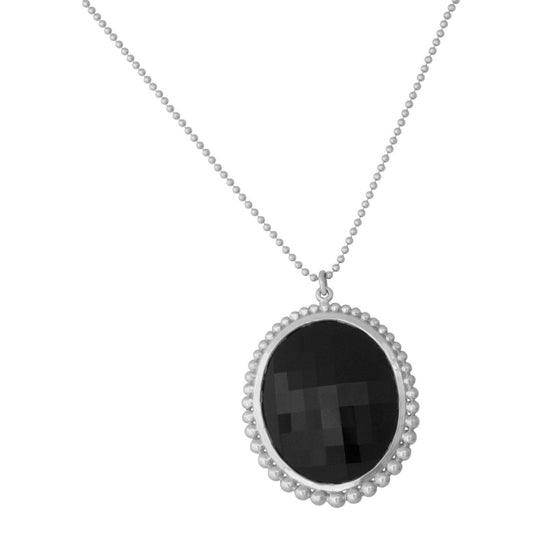 Tiffany & Co. Ziegfeld Collection Oval Onyx Pendant Necklaces Tiffany & Co.