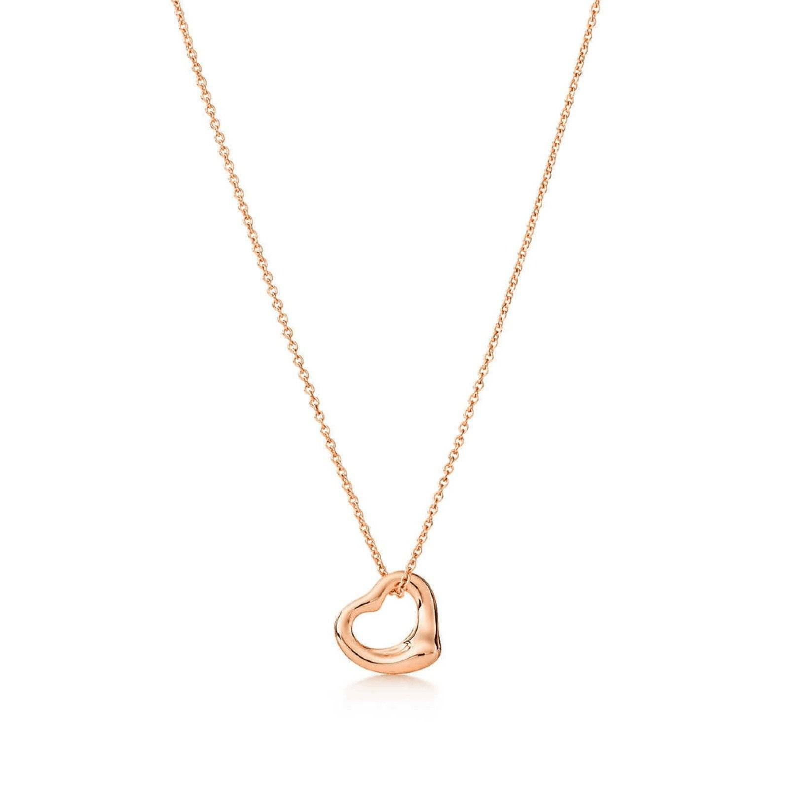 Tiffany elsa peretti open heart pendant necklace oliver jewellery tiffany elsa peretti open heart pendant necklace necklaces aloadofball