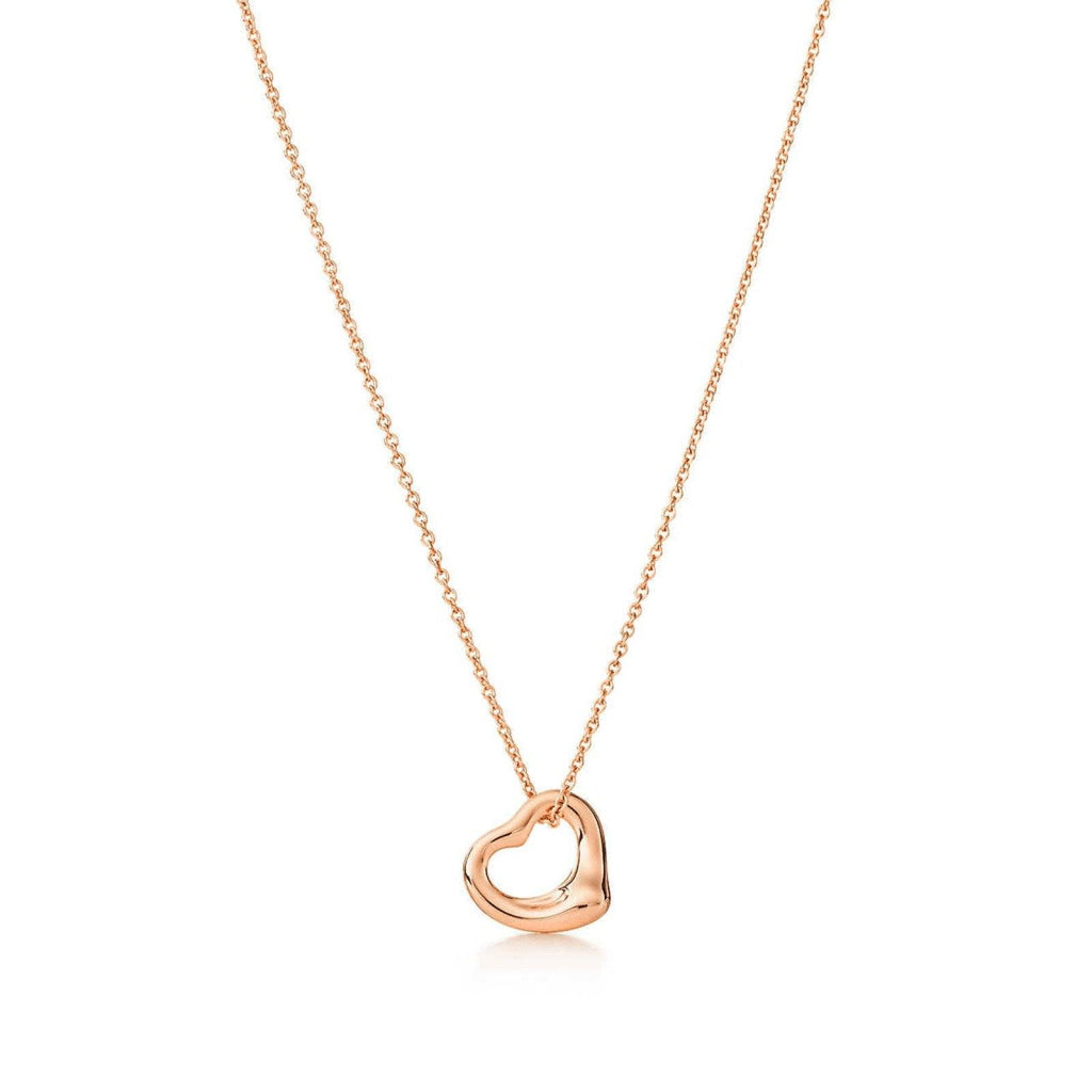 Tiffany Elsa Peretti Open Heart Pendant Necklace - Necklaces
