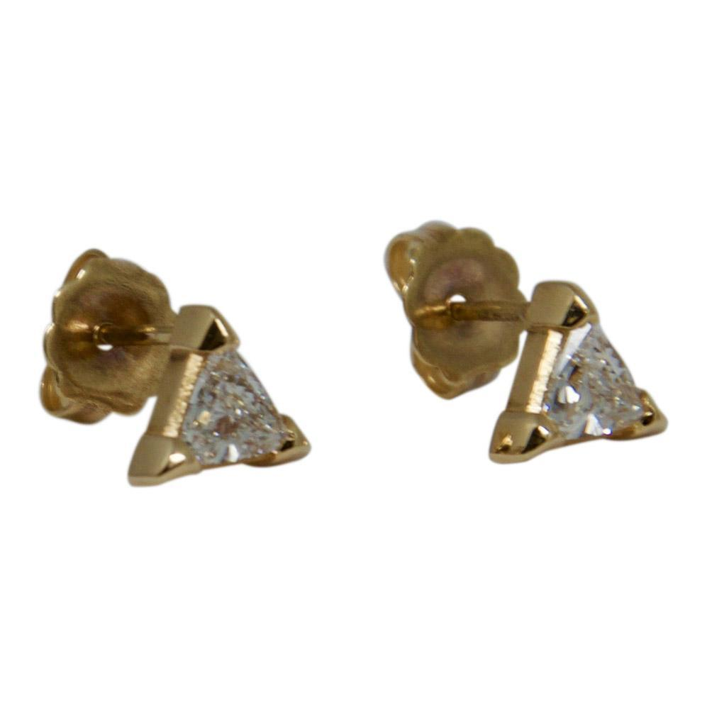 Trilliant Cut Diamond Stud Earrings Earrings Miscellaneous