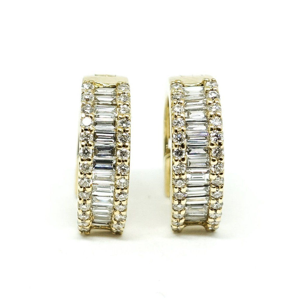 Diamond Huggy Earrings - Earrings