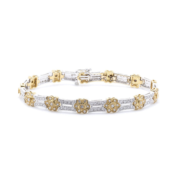 Two-Tone Diamond Link Bracelet Bracelets Miscellaneous