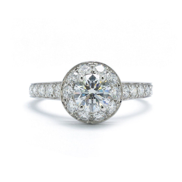Van Cleef & Arpels 0.72Ct Round Diamond Engagement Ring - Rings
