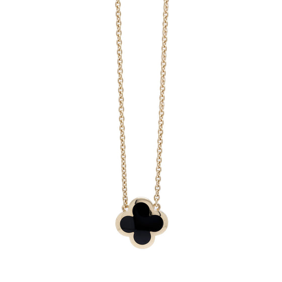 Van Cleef & Arpels Pure Alhambra Black Onyx Pendant Necklace Necklaces Van Cleef & Arpels