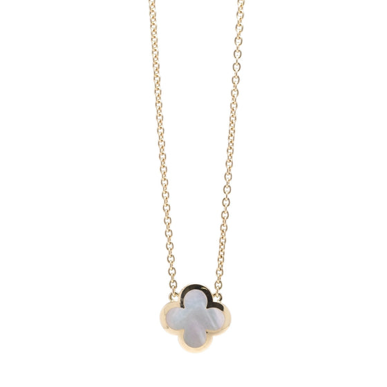 Van Cleef & Arpels Pure Alhambra Mother of Pearl Pendant Necklace Necklaces Van Cleef & Arpels