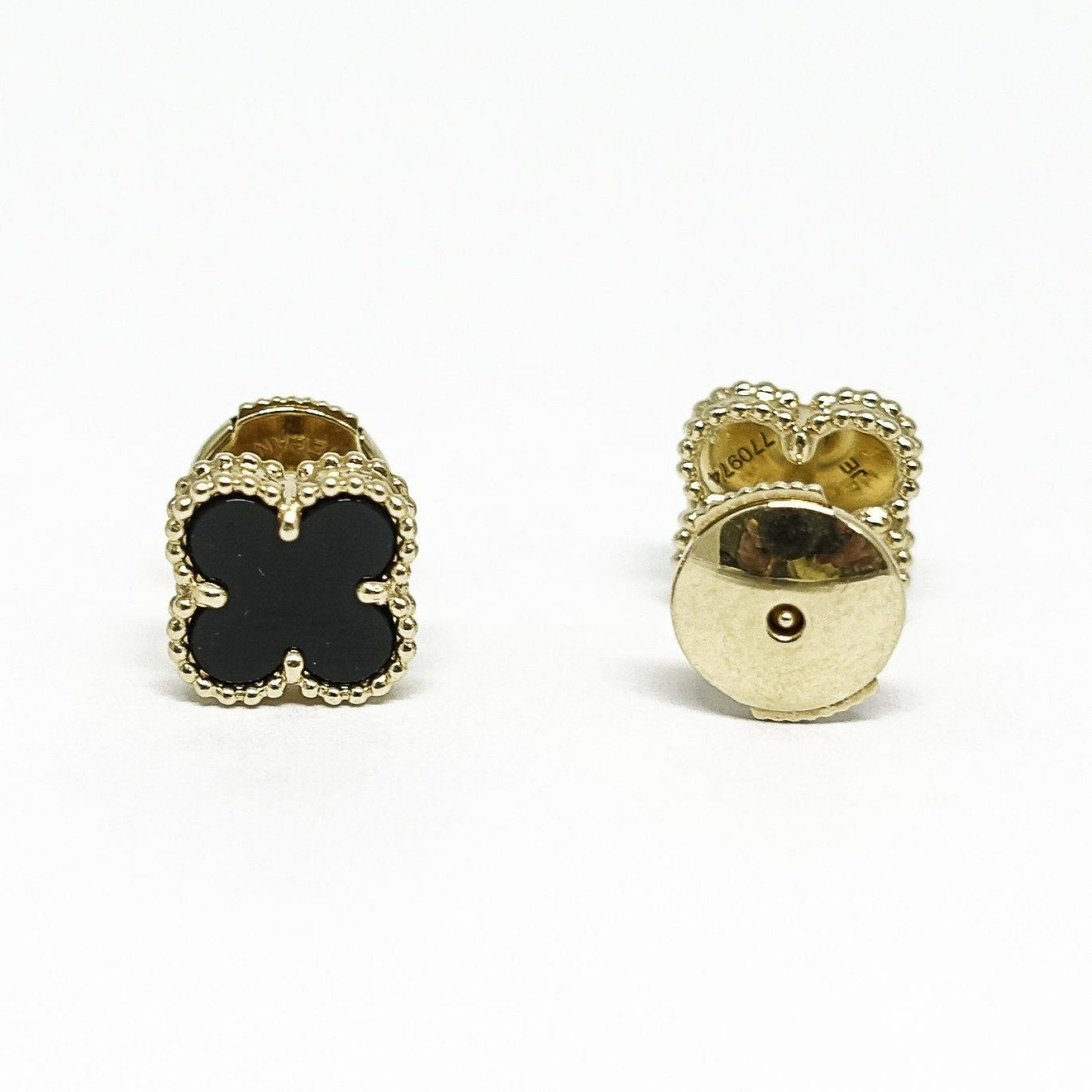 81637a7dcab2 Van Cleef   Arpels Vintage Alhambra Earrings - Oliver Jewellery
