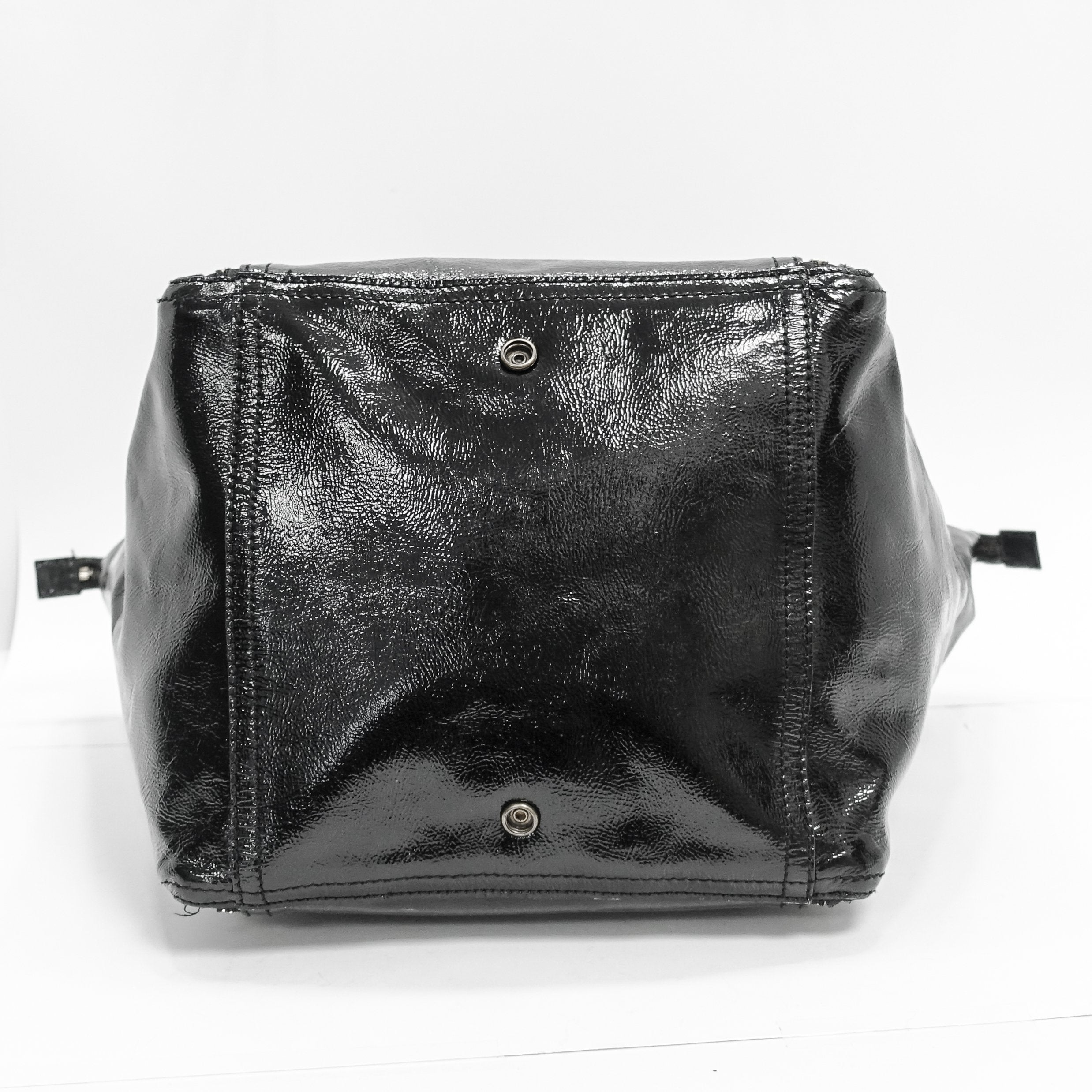 105e0963 YSL Black Patent Leather Downtown Tote– Oliver Jewellery