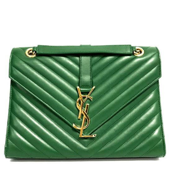 YSL Green Medium Monogram Envelope Chain Bag Bags YSL