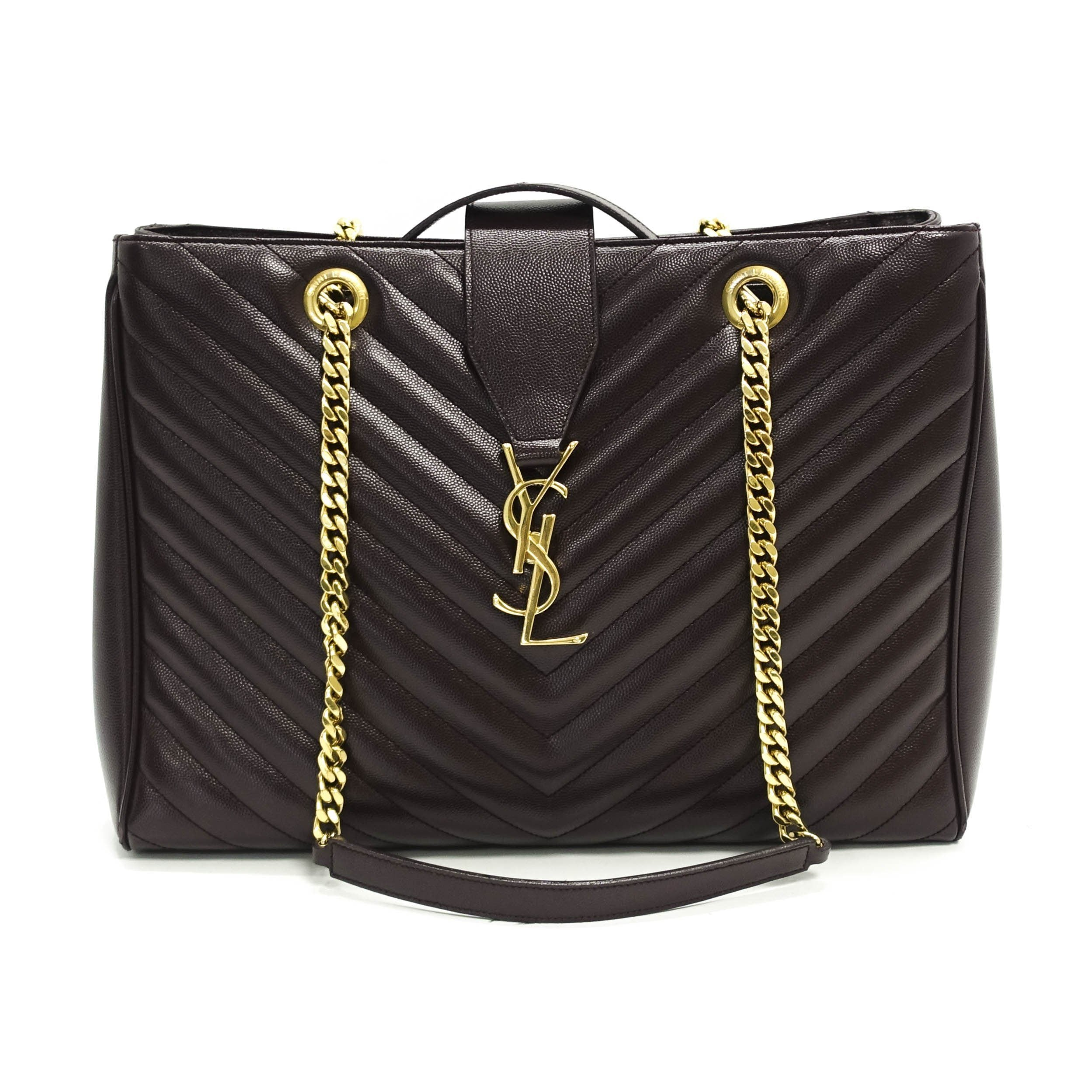 31e421755d Yves Saint Laurent Cassandre Chain-Strap Matelasse Shopper Bag