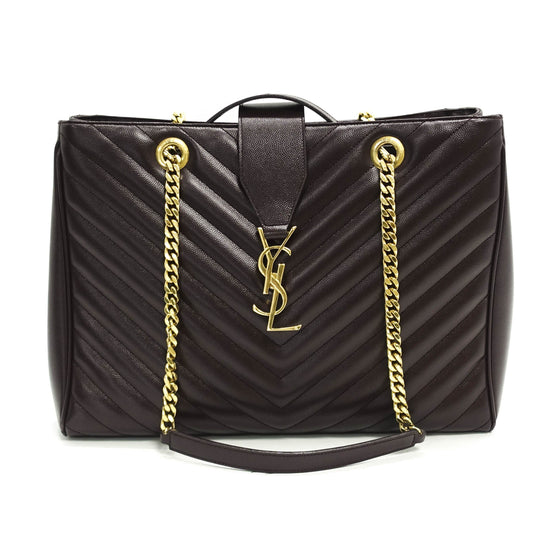 Yves Saint Laurent Cassandre Chain-Strap Matelasse Shopper Bag Bags YSL