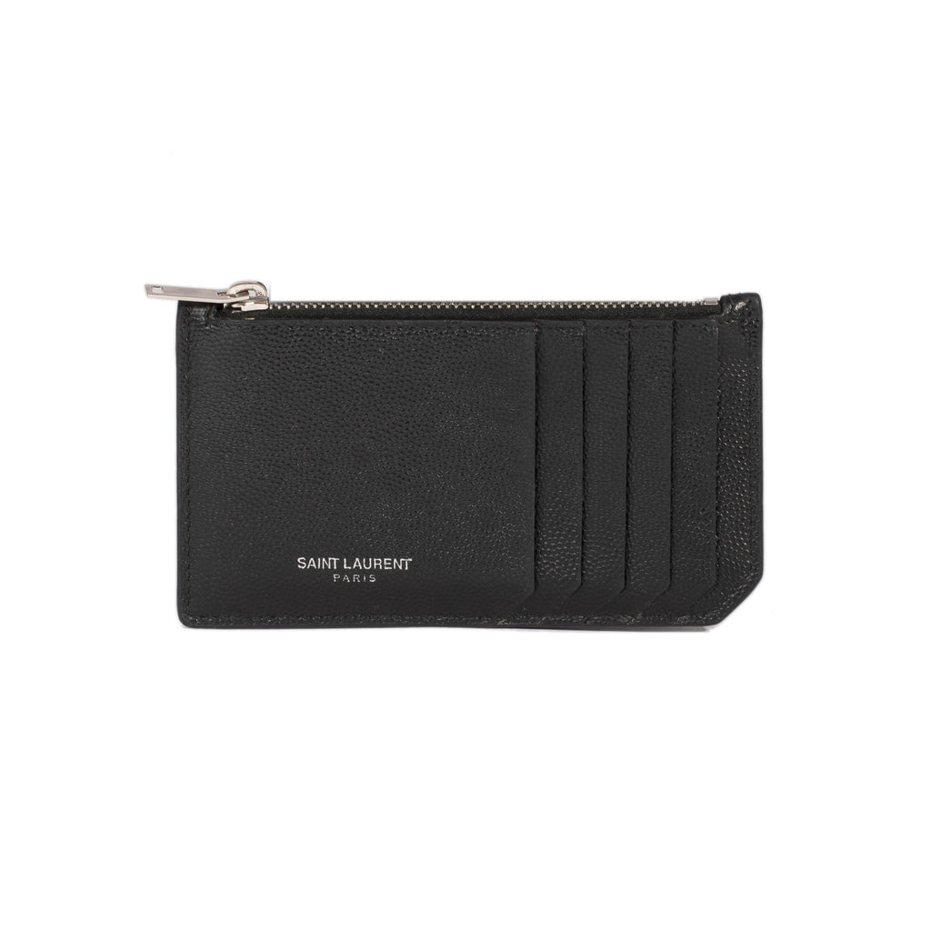 Yves Saint Laurent Fragments Zipped Card Case Wallets YSL
