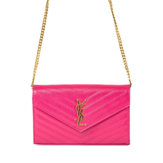 Yves Saint Laurent Monogram Matelasse Chain Wallet Bags YSL
