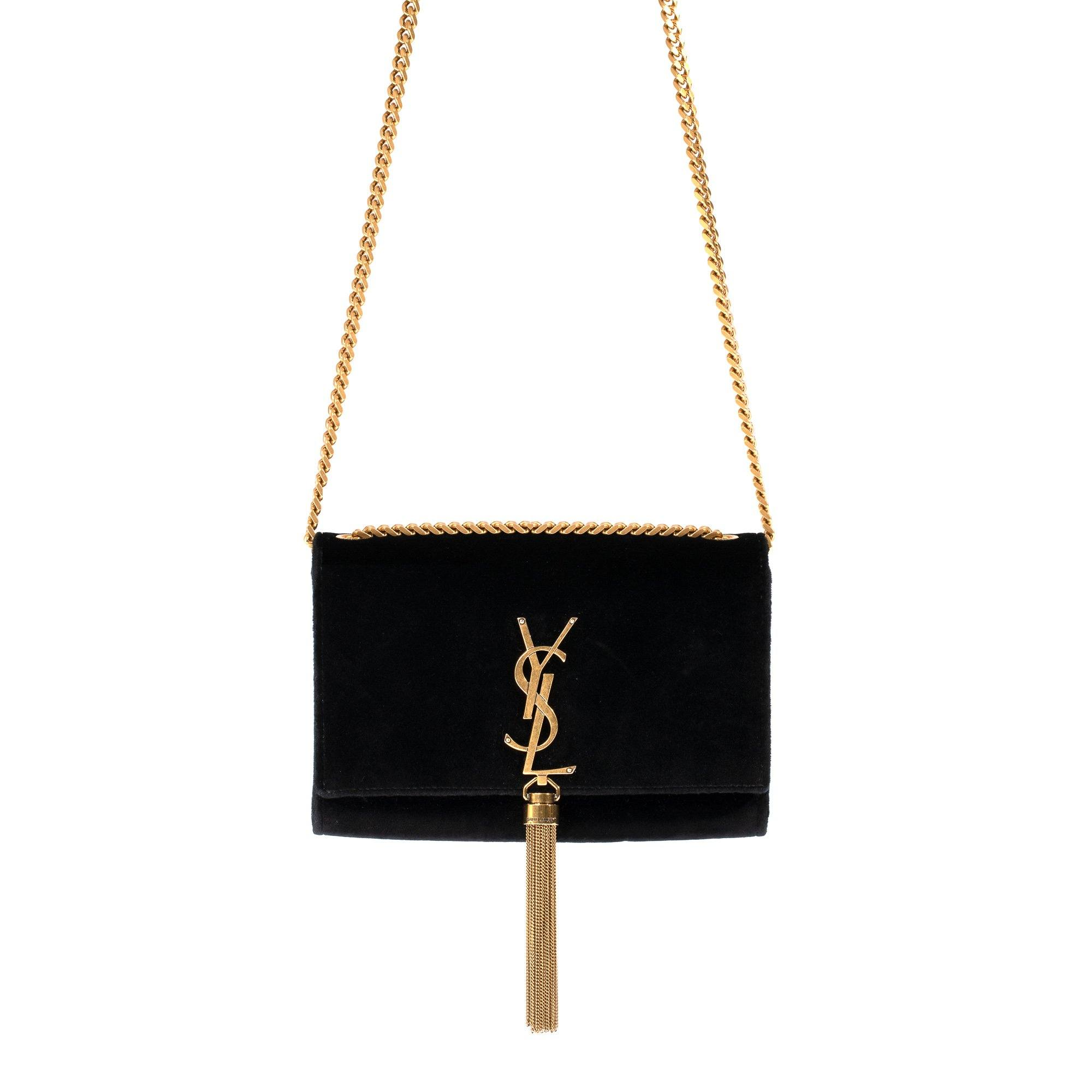 bc439888535 Yves Saint Laurent Velvet Kate Tassel Bag– Oliver Jewellery