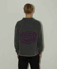 Load image into Gallery viewer, Washed Black Ripple Logo Quarter Zip