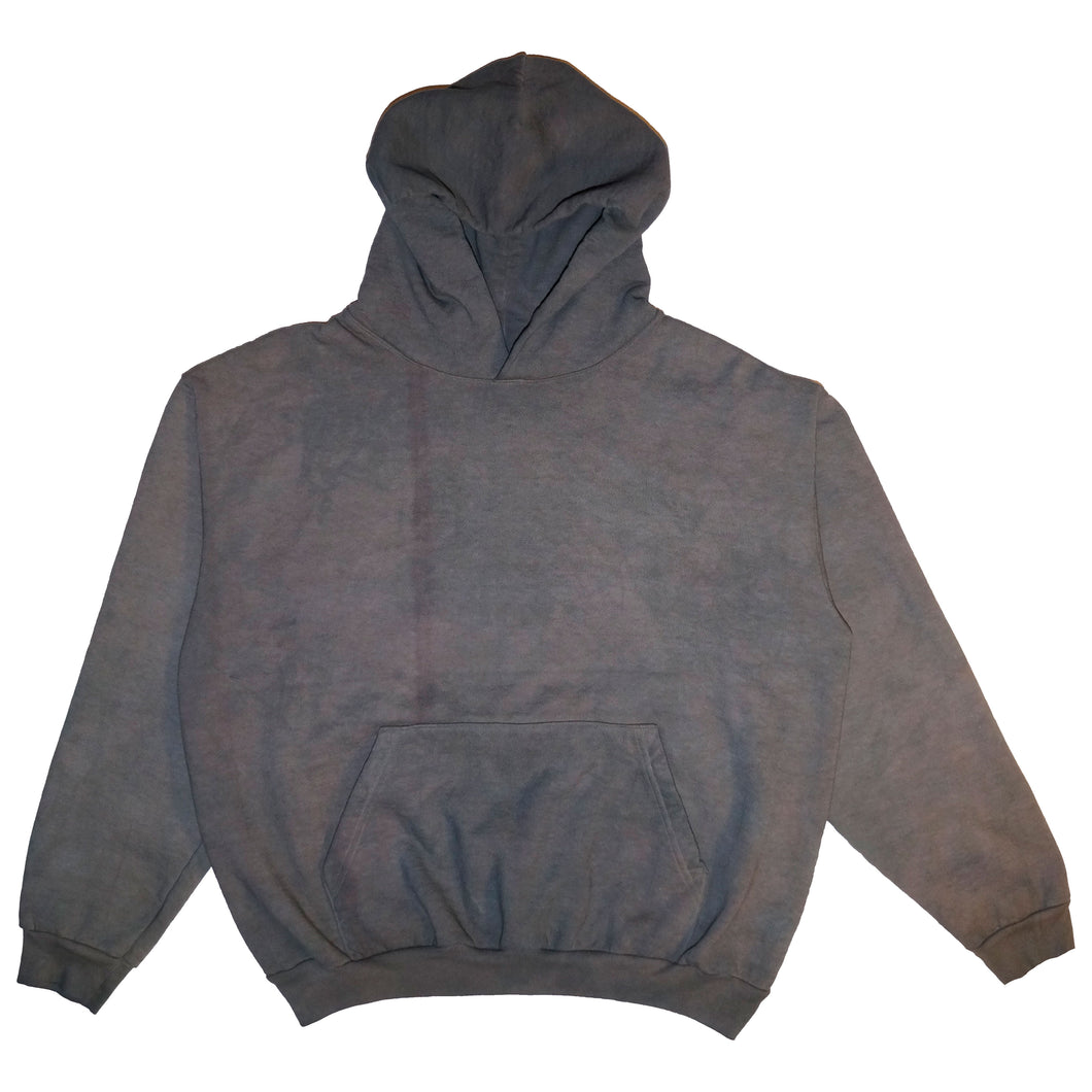 Faded Grey Hand Dyed Hoodie - X-Large