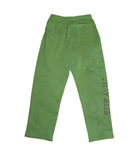 Load image into Gallery viewer, Hand Dyed Green Heavy Fleece Logo Sweatpants