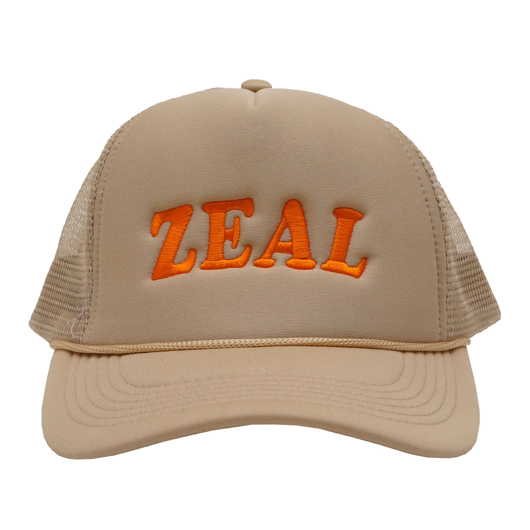 Tan Zeal Logo Farm Cap