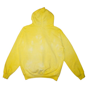 Yellow Hand Dyed Hoodie - Large