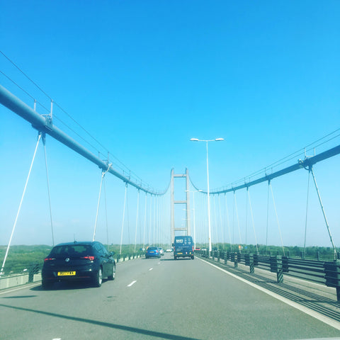 Humber bridge crossing