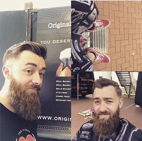 original beard co founder Alan with beard balm