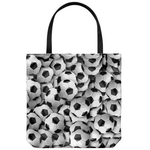 Soccer Balls Galore All Over the Place Tote Bag