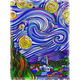 Starry Nights Interpreted - Woven Throw Blankets - Muggalicious