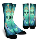 Queen and Narcissus Cat - Socks - Muggalicious