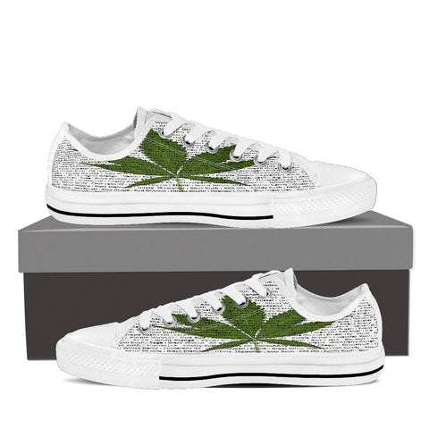 A Leaf By Any Other Name - Low-top Sneakers for Men & Women - Muggalicious