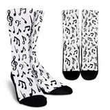 Music Notes Crew Socks