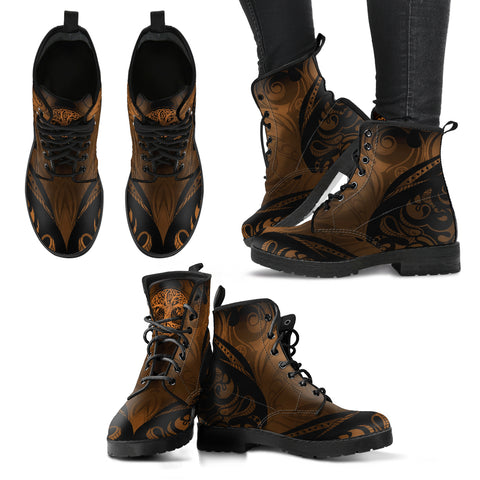 Tree of Life Women`s Leather Boots Brown